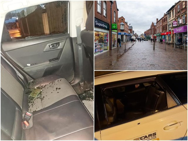 A Castleford taxi company has announced it will no longer work in certain areas of the town, following an attack on a taxi which saw a passenger taken to hospital with injuries. Photos: JPIMedia/Cas Cars