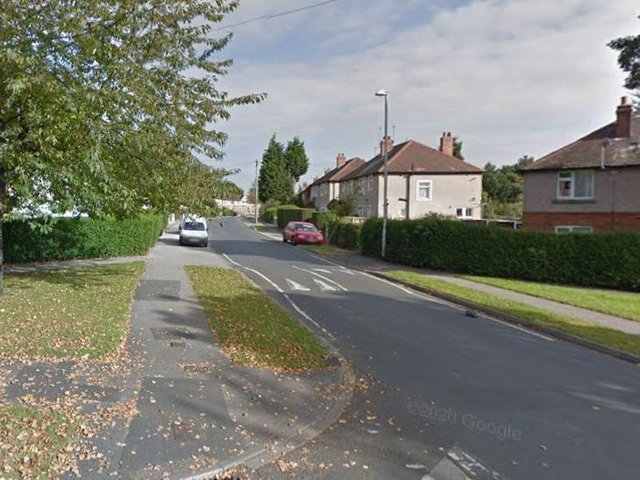 Whinney Moor Avenue, Lupset, when the violent altercation took place.
