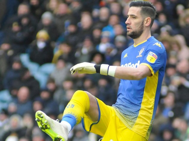Kiko Casilla, back in goal for Leeds United's game at Southampton.