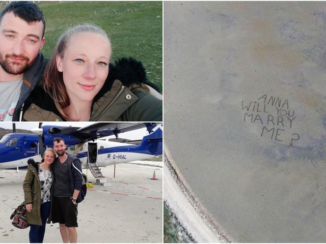 Romantic Jamie gave his girlfriend Anna the ultimate surprise on a weekend trip to Scotland.