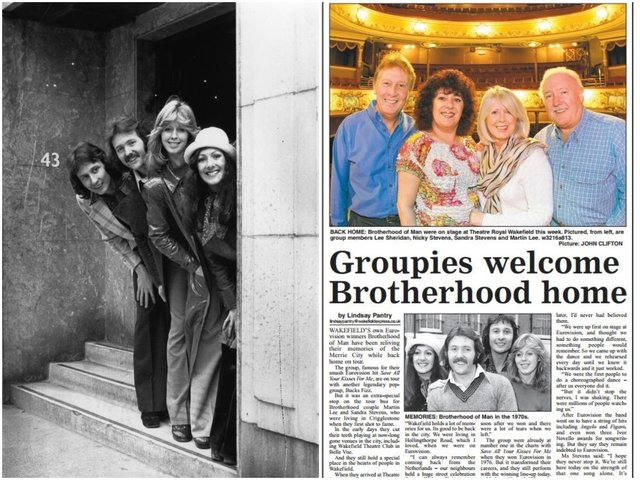 In 1976, the UK sang their way to victory at the Eurovision Song Contest, much to the joy of millions of fans. And as the celebrations came to an end, it was back to Wakefield for half of the winning group. Photos: Evening Standard/Getty Images and JPI Media