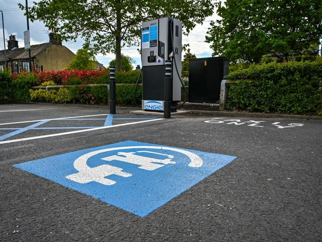 Two of Wakefield's Asda stores are to be fitted with free-to-use electric vehicle charging points, supplied with 100% renewable energy. Photo: Asda