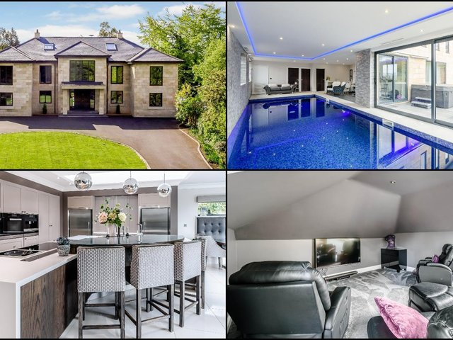Take a look around this £2.6m five bed mansion for sale in Wakefield - with its own swimming pool, cinema and snooker room