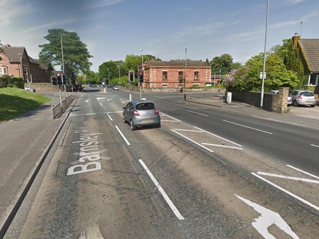 Temporary traffic lights have been in place on Barnsley Road, Sandal, at the junction with Walton Lane, for almost two weeks. Photo: Google Maps