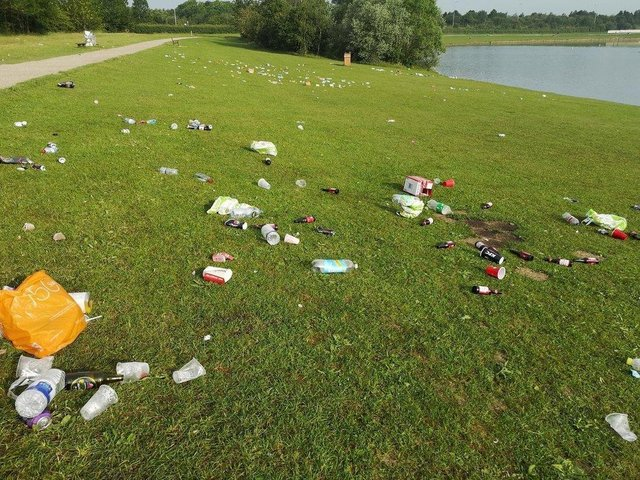 Rubbish was left dumped by revellers at Pugneys Country Park last June, and again in March of this year, during spells of hot weather.