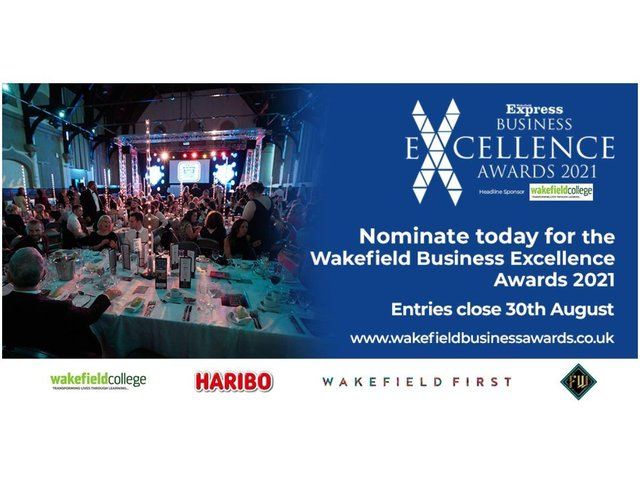 The Wakefield Express Excellence in Business Awards 2021 are now open for entries. Visit wakefieldbusinessawards.co.uk to find out more, or submit your nomination today.