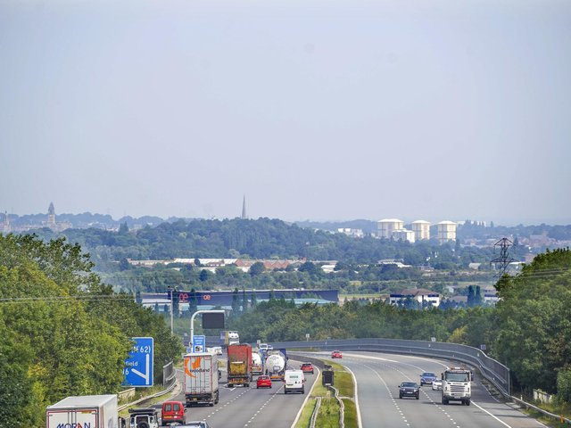 More than seven miles of traffic has been reported on the M1 at Wakefield this afternoon, after a lorry overturned on the carriageway. Stock image.