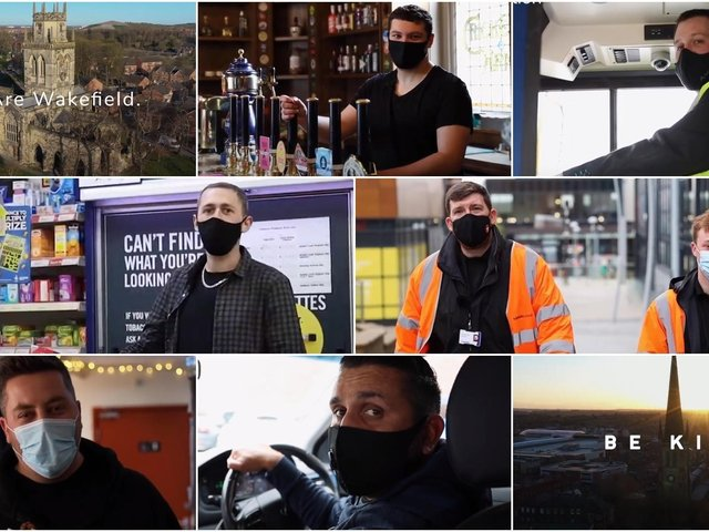 Video shows Wakefield businesses asking people to be kind and have patience as restrictions are lifted
