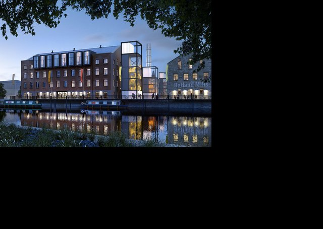 Chic: The Tileyard North development and a cafe in Wakefield