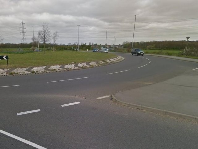 The roundabout on Doncaster Road.