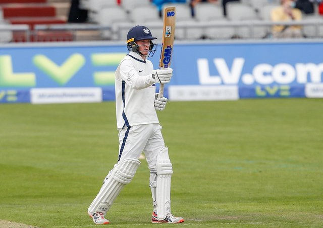 Harry Duke, making an impact with Yorkshire CCC.