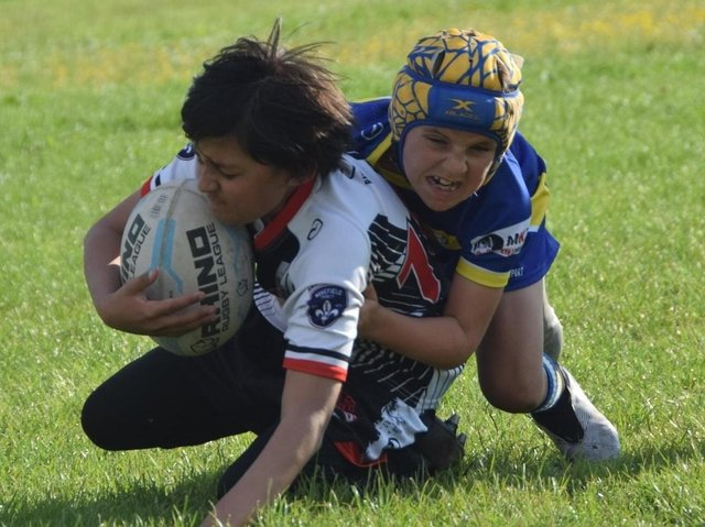 Eastmoor Dragons U10s up against Bentley U10s with action captured by MKS Photography