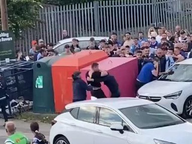 Trouble outside the ground.