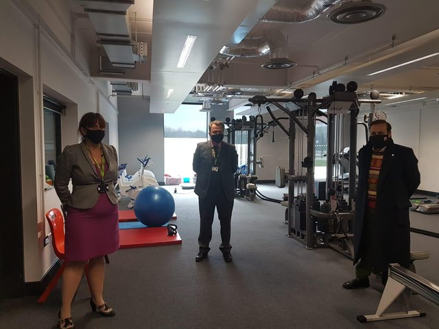 UNIVERSITY TECHNICAL COLLEGE: Imran Khan MP with the staff of UTC Sheffield