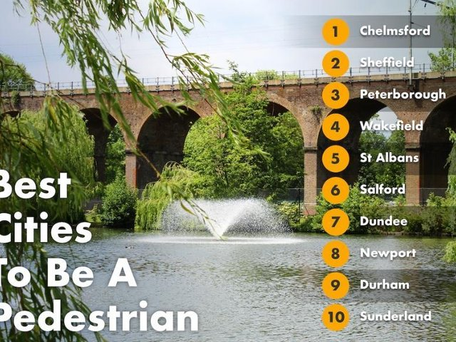 Wakefield named one of the UK's most pedestrian-friendly cities