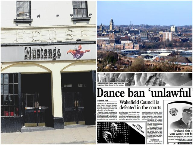 Do you remember when dancing was banned in Wakefield city centre on Sunday nights? We take a look back at the controversial rule, 20 years after it was lifted. Pictured are the former Mustang Sally's bar, Wakefield city centre and a newspaper article about the lifting of the ban.