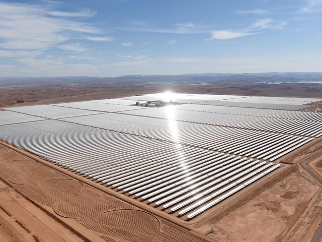Stock image of solar farm