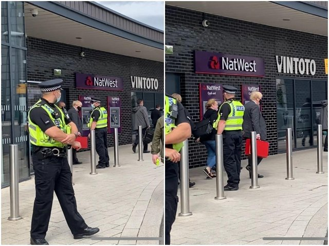 Wakefield played host to a special guest this morning, when Prime Minister Boris Johnson was spotted at the city's Wakefield Westgate railway station.