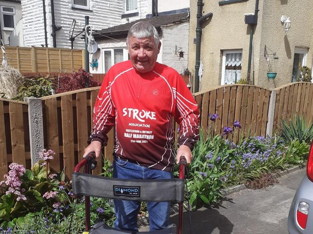 Keith Moorby who is walking a half-marathon Monday to raise funds for the Stroke Association