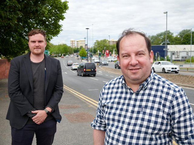 Councillors George Ayre and Matthew Morley