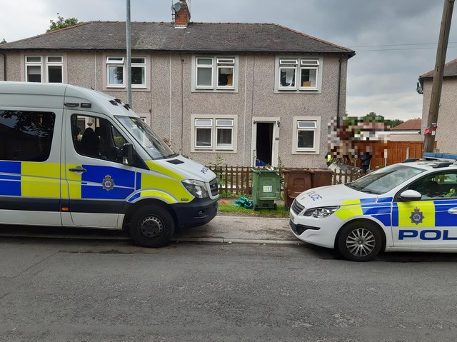 Searches were carried out this house.