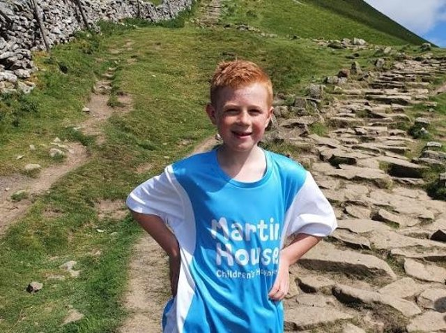 Lewis Parkinson, aged 9, from Stanley completed the 'One Peak Wander' challenge organised by Martin House Children's Hospice.