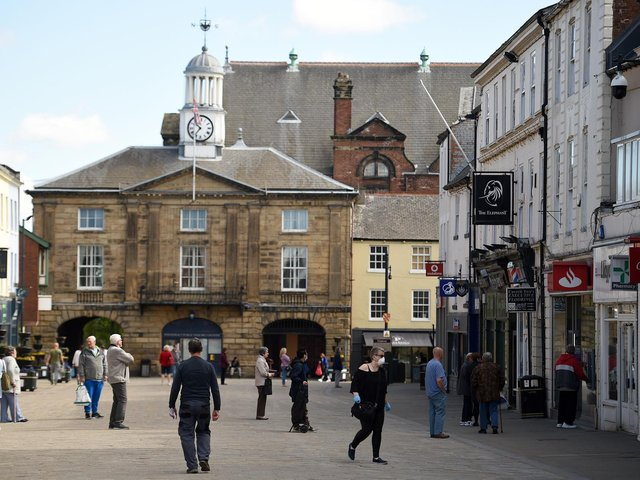 The rate of cases of Covid-19 in the Wakefield district has risen sharply in the last few weeks - but some age groups are reporting higher infection rates than others. Pictured is Pontefract town centre.
