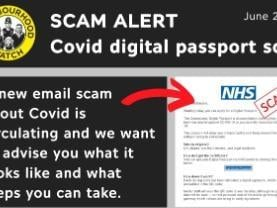 Clicking on the link within the email takes you to a convincing,  but fake, NHS website that asks for personal and payment details - for an admin fee. (NWN)
