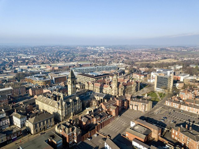 Thousands of visitors, millions of pounds in investment and an international audience could be on the cards for Wakefield, as the city launches its official bid to be named City of Culture 2025. Wakefield city centre is seen from above. Photo: Scott Merrylees