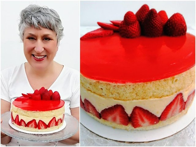 In her latest column, Great British Bake Off Star Karen Wright shares her memories of Wimbledon - and some top tips for making the perfect seasonal Frasier Cake. Photo: Karen Wright