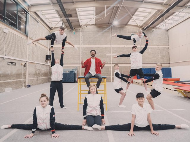 Wakefield Gym Club gymnasts in their new Penny Appeal home.
