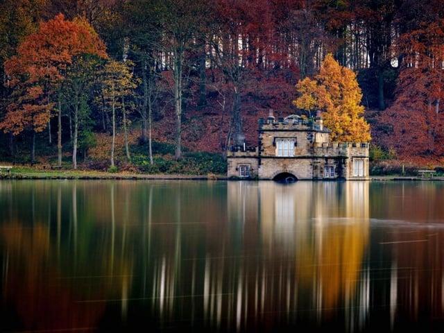 The picturesque park is a popular destination.