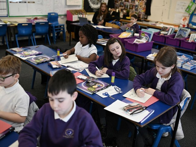 Dozens more Wakefield pupils have been sent home from school this week, after members of their class bubbles tested positive for Covid-19. Photo by OLI SCARFF/AFP via Getty Images