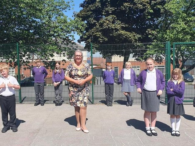 Coun Tracey Austin, the Mayor of Wakefield, visited Outwood Primary Academy Newstead Green on Thursday to select the winners from each year group at the Cow Lane-based primary academy.
