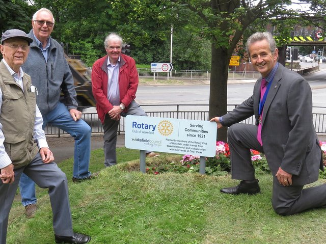 Rotarians David Garforth, our new president Peter Clarke, Peter Gallivan and Stuart Livesey, the branch's past president
