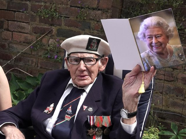John Hirst celebrates his 100th birthday and receives a card from the Queen. Pic credit Photo Makeovers