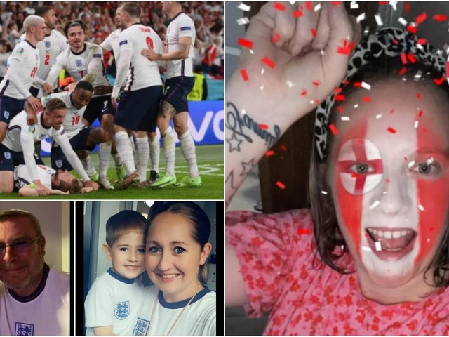 Three Lions fans celebrated in style in pubs, clubs and homes across Wakefield as England beat Denmark 2-1 in the Euro 2020 semi-final.