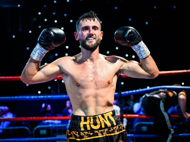 BACK IN ACTION: Wakefield boxer Dom Hunt returned to the ring late last month after Covid-19 stopped him from fighting for almost two years. Picture: Ryan Marsden/Steel Stream Design