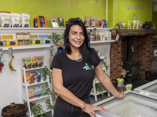 Shannon Clewlow has opened a pet shop in Castleford selling raw food.