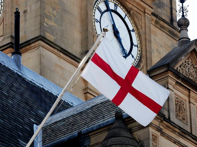The flag at Wakefield Town Hall