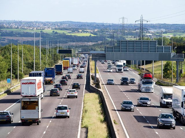 The M62 has reopened at Ferrybridge, following a serious collision which saw the motorway closed to all traffic. Photo: Highways England