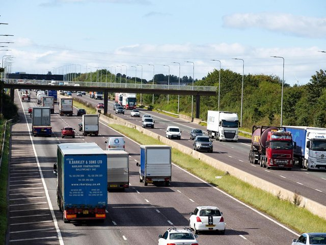 """The M62 has been closed in both directions at Ferrybridge this morning following a """"serious collision"""". Stock image."""