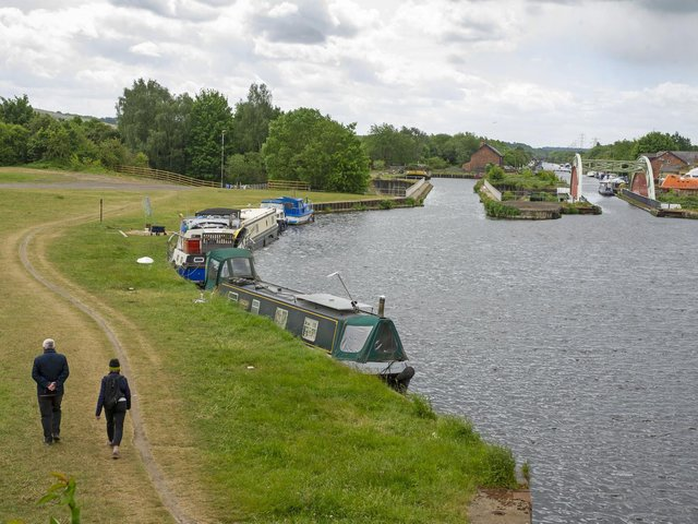 Police in Wakefield have launched an investigation after a man's body was found in the Aire and Calder Navigation. Stock image.