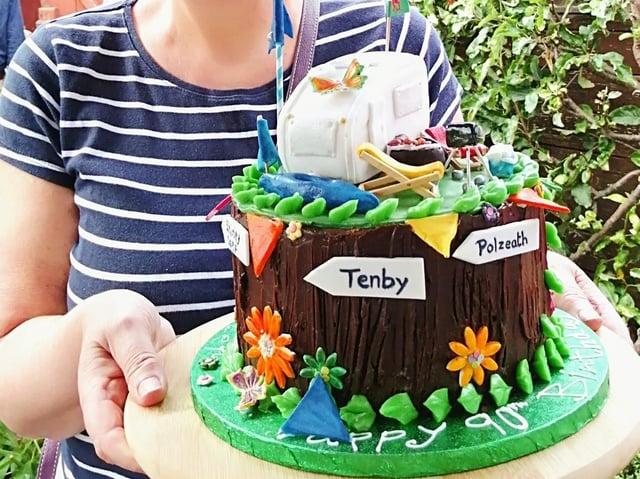 Uncle Graham's 90th birthday cake