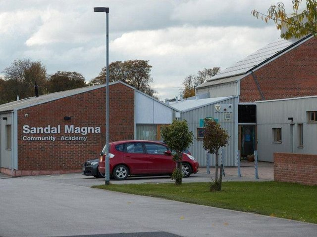 The school building was finished in 2010 but has suffered from a defective roof ever since. Wakefield Council has said a new watertight roof is on track to be put up by September.