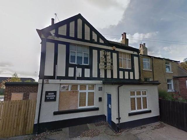 The old Blue Light pub.