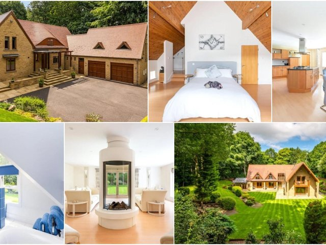 Described as 'one of the finest houses in the area', this five bedroom family home is for sale in Newmillerdam for £1,695,000.
