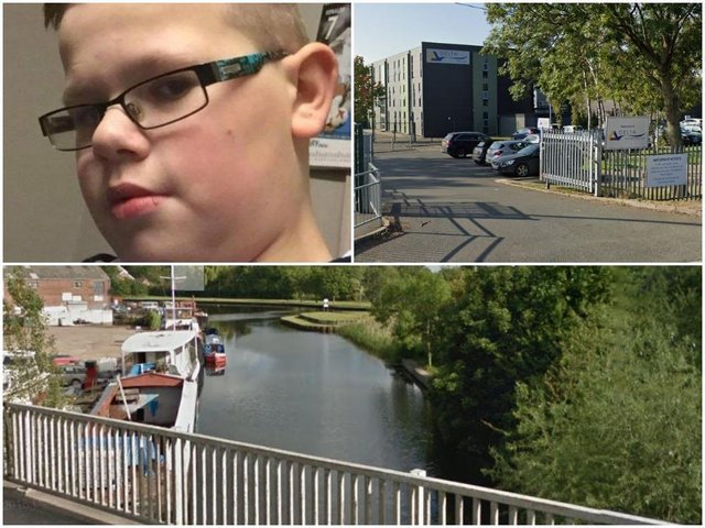 Caden, who attended De Lacy, was retrieved from the canal on Tuesday evening.