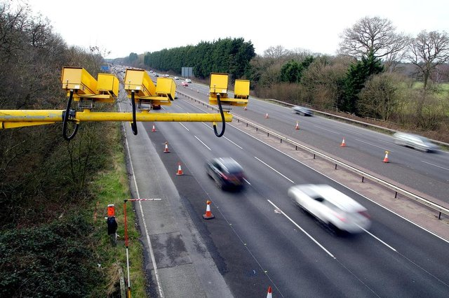 Average cameras are already used in roadworks on motorways