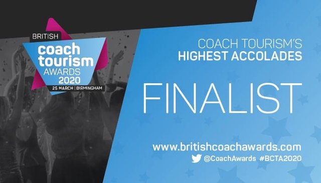 Acklams Coaches  are finalists in the British Coach Tourism Awards 2020